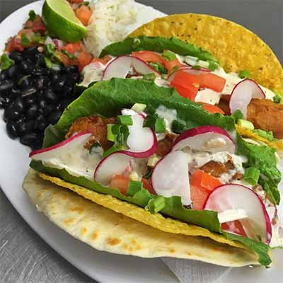 Barefoot Bernies fish tacos