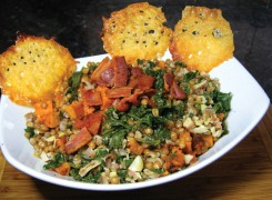 Kale, Butternut Squash and Wheat Berry Salad