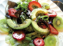 Mixed Greens & Strawberry Salad with Poppy Seed Dressing
