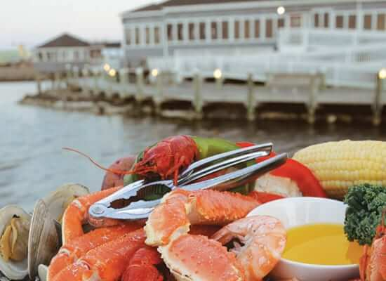 Sugar Creek seafood platter