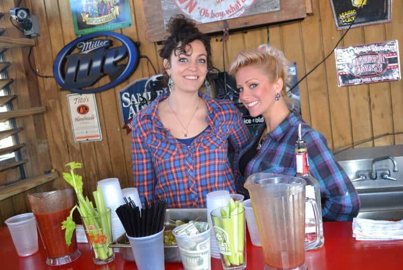 Lucky 12 Tavern - Two Girls at Bar