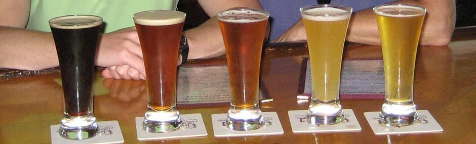 Outer Banks Brewing Station flight beers