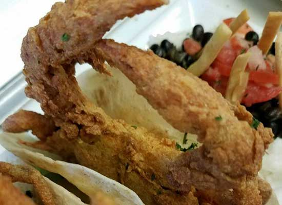 Soctshell Crabs at SandTrap Tavern