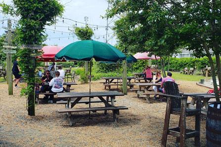 Outer Banks Brewing Station backyard hangout