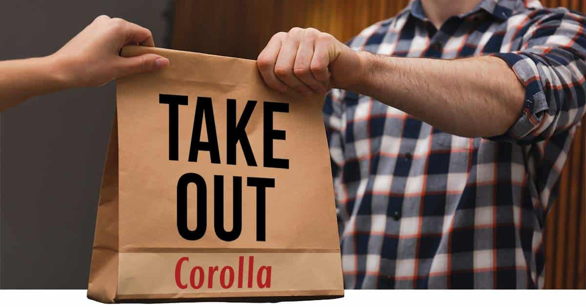 take out corolla